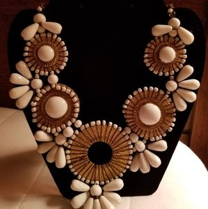 Beautiful white and gold necklace